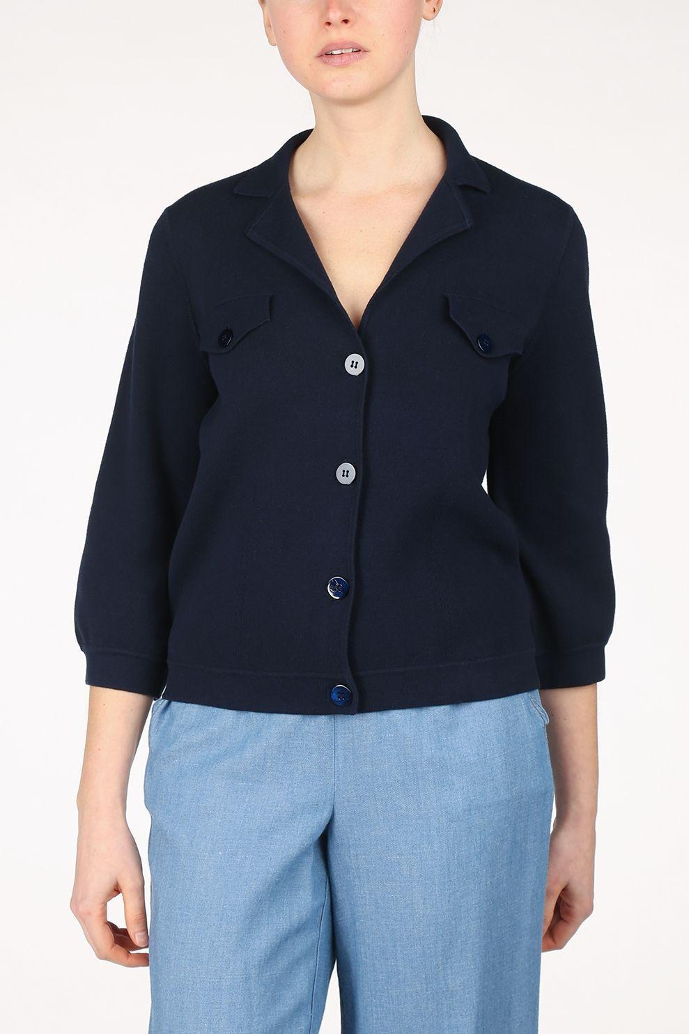 Terre Bleue Cardigan Anouk voor dames - Blauw - Maten: 36, 38, 40, 42, 44