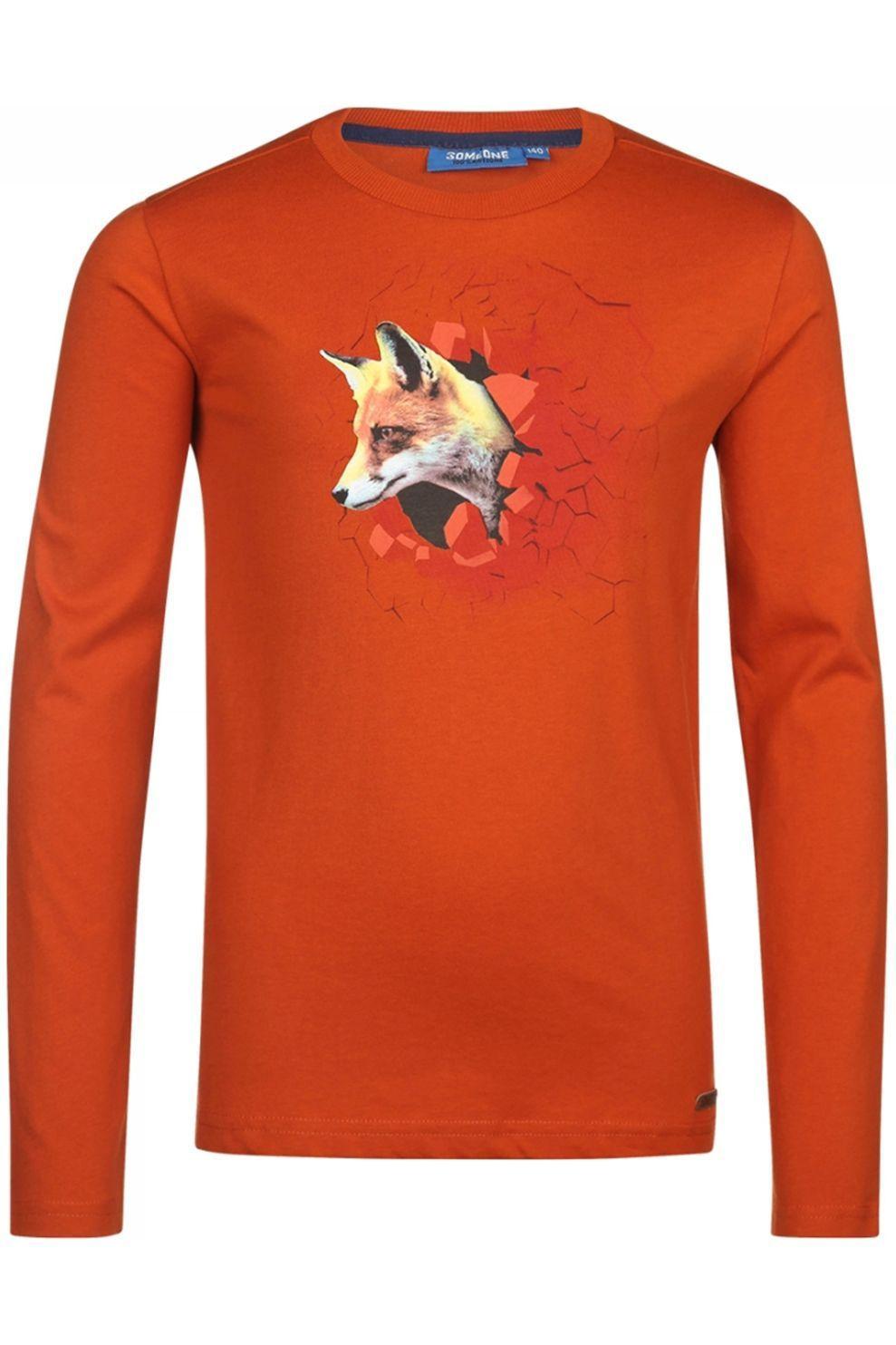 Someone T-Shirt Renard-Sb-03-I voor jongens - Bruin - Maat: 116