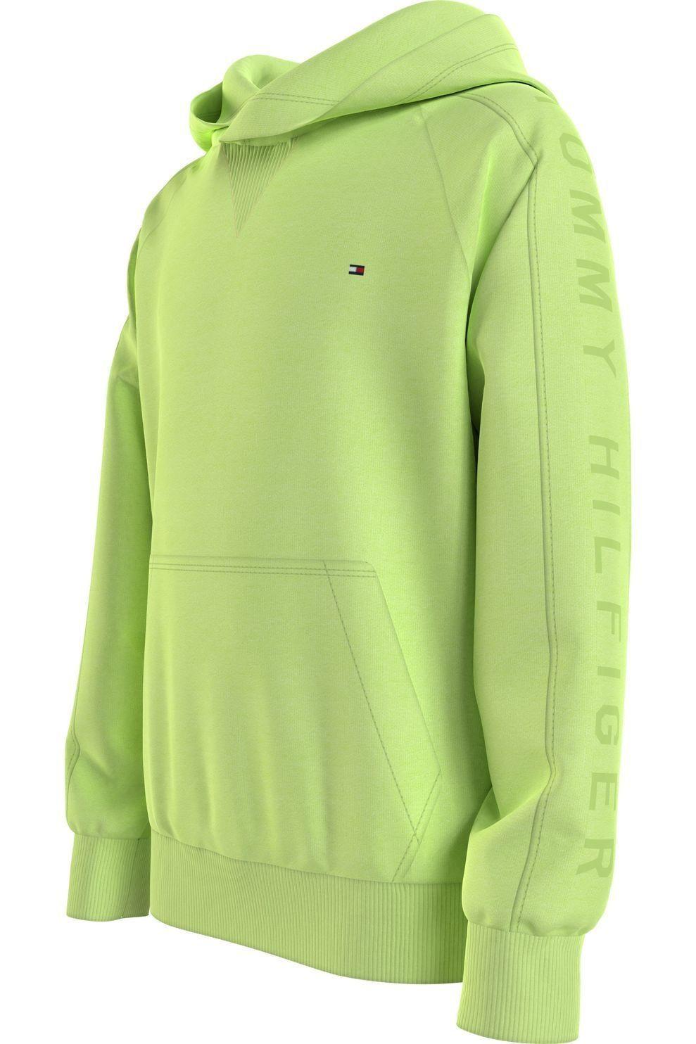 Tommy Hilfiger Trui Gmd Sleeve Artwork Hoodie voor jongens - Limoen Groen - Maten: 140, 152, 164, 17