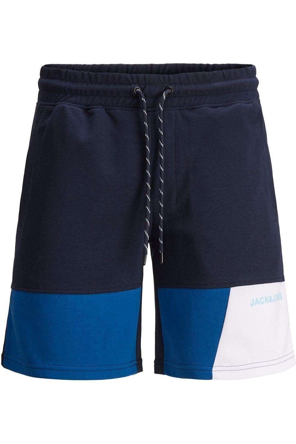 JACK & JONES Short Jjimars Sweat Shorts Nb Jr voor jongens - Blauw/Wit - Maten: 128, 140, 152, 164,