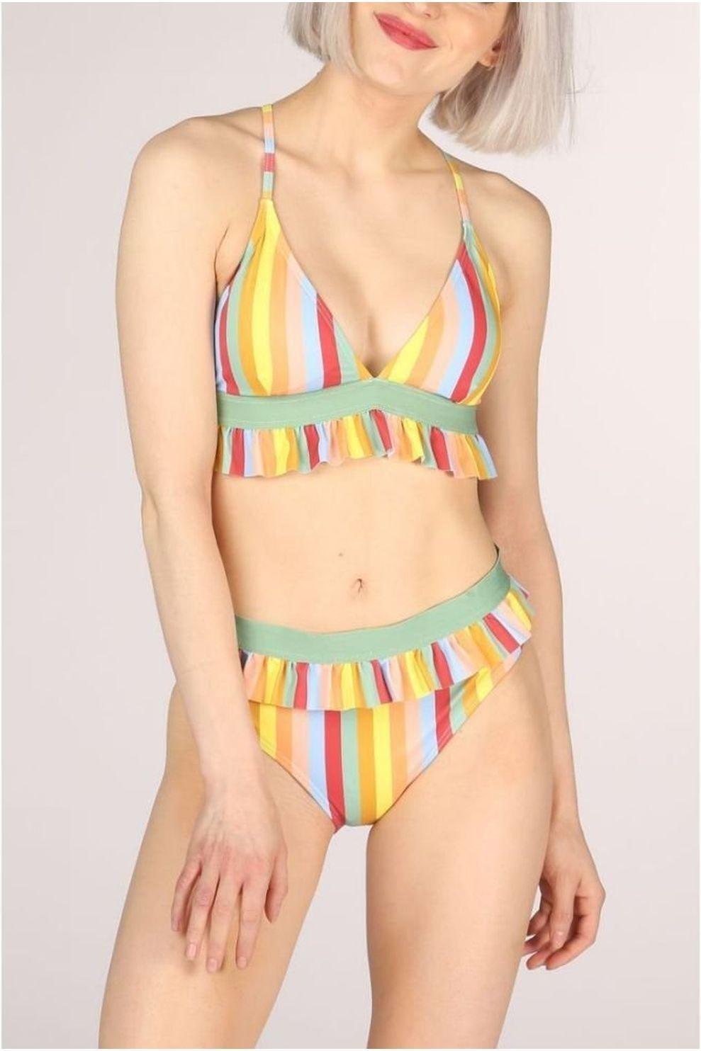 Numph Bikini Kaylee voor dames - Geel/Oranje - Maat: S