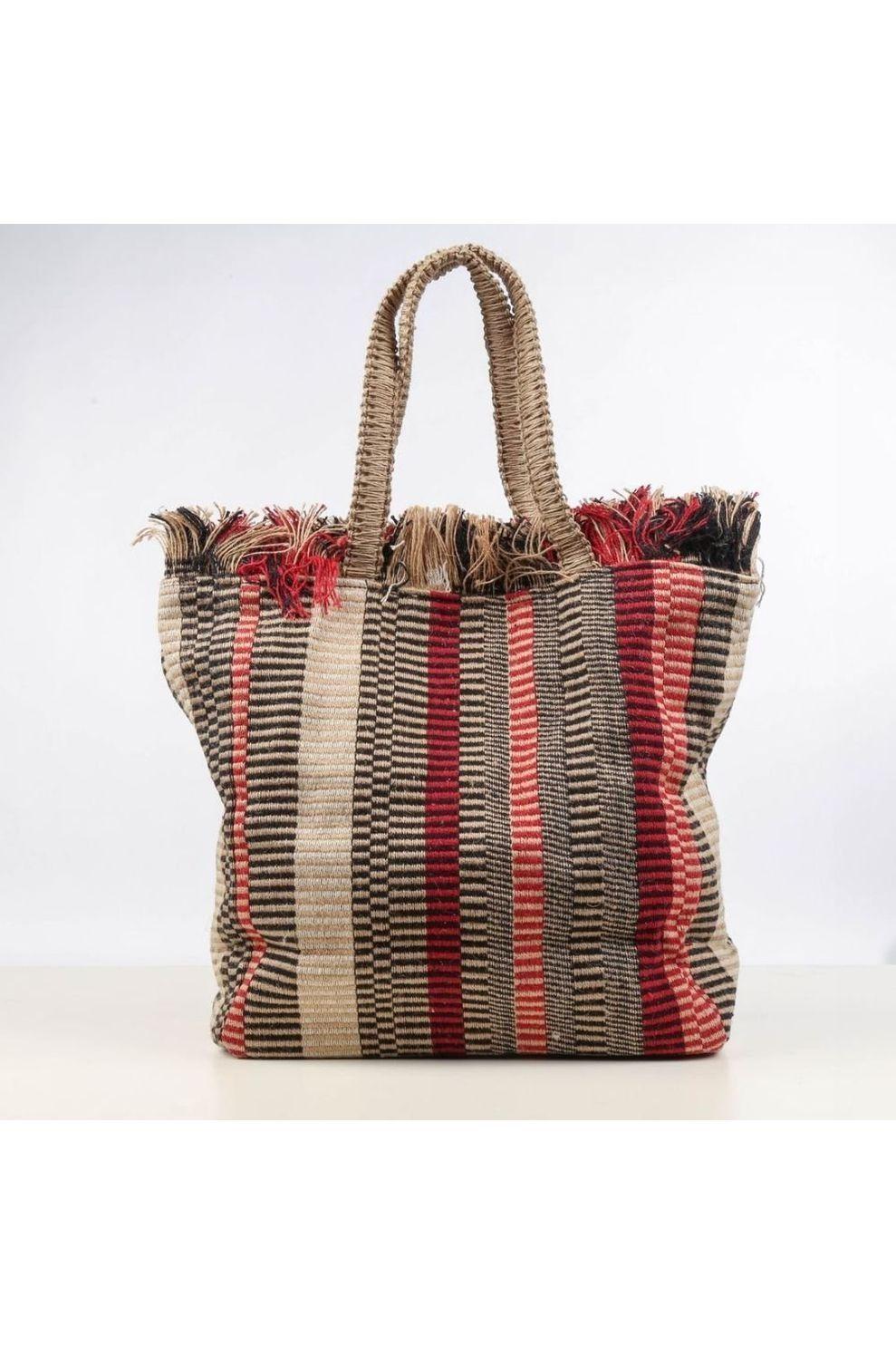 Pieces Tas Nela Shopper voor dames - Blauw - Kastanjebruin