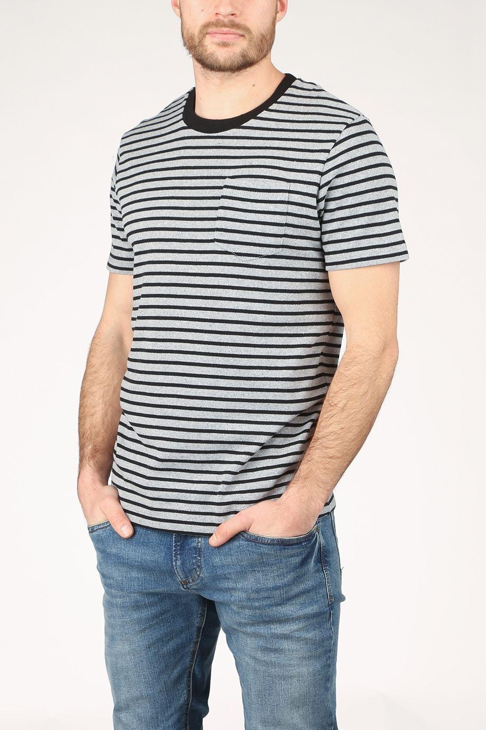 Premium T-Shirt Jprblavincent Crew Neck voor heren - Grijs/Blauw - Maten: S, M, L, XL, XXL