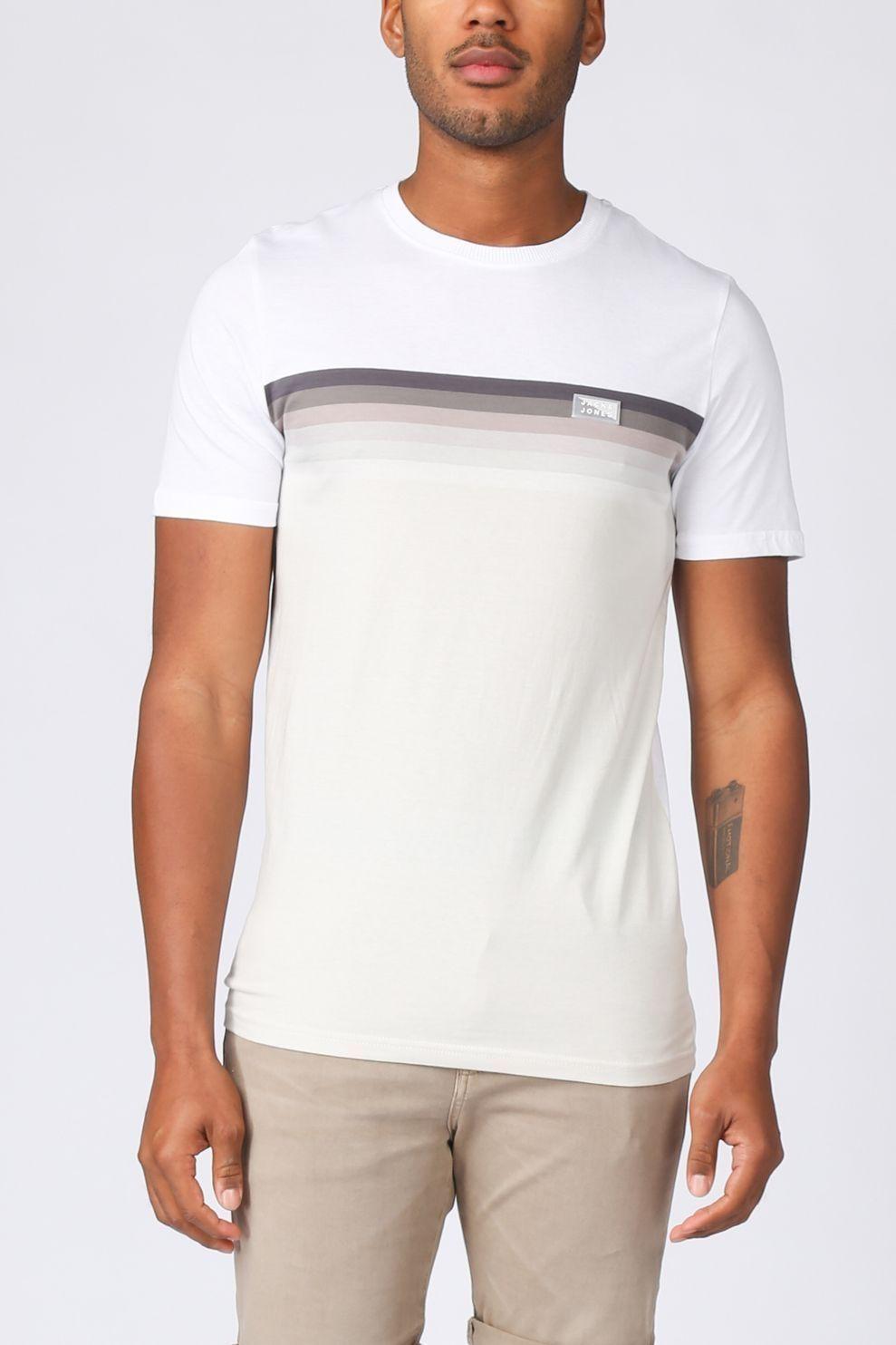 JACK & JONES T-Shirt Jcomirku Tee Ss Crew Neck voor heren - Wit - Maten: XS, S, M, L, XL