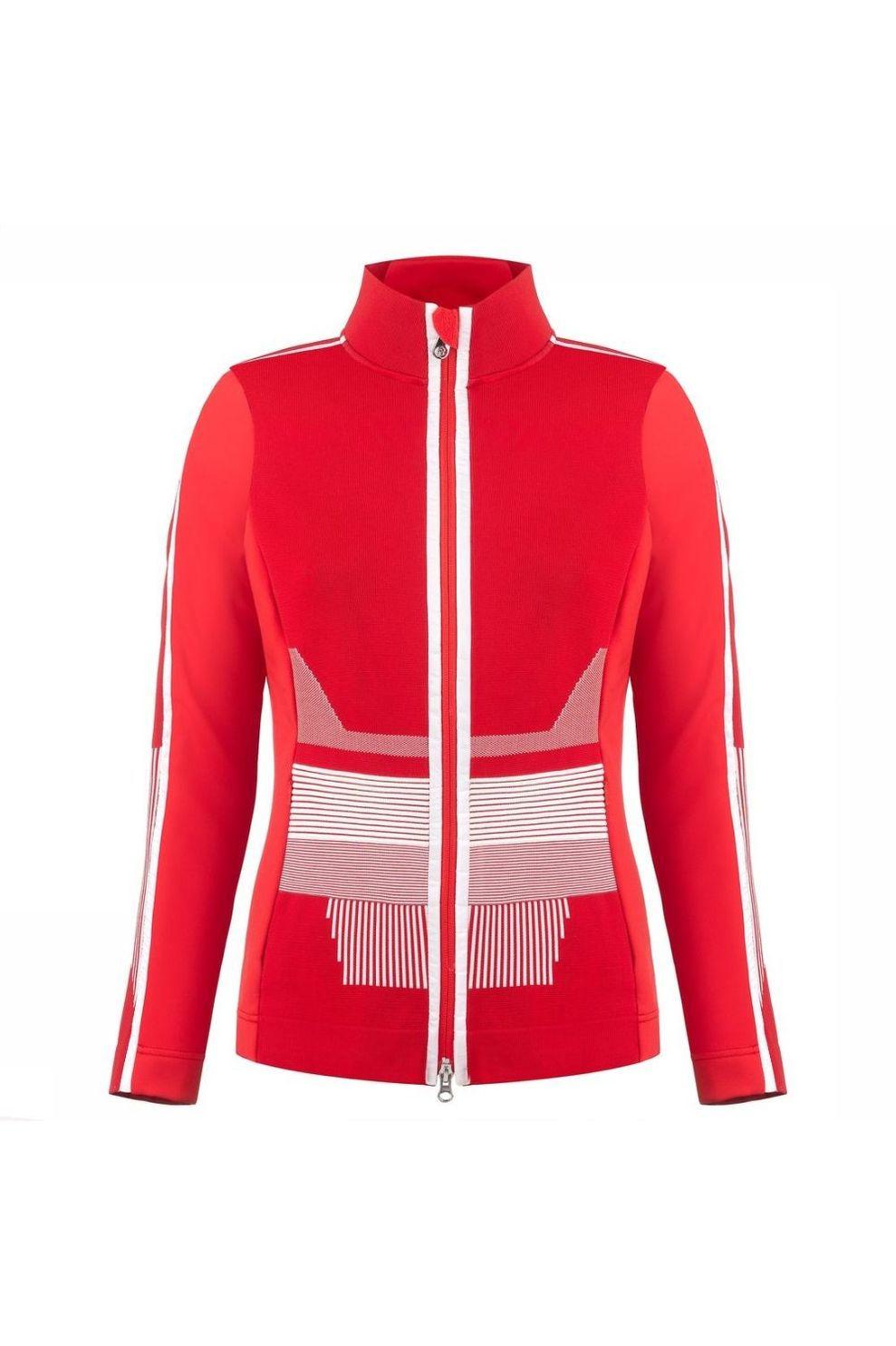 Poivre Blanc Fleece Jacket voor dames - Rood - Maten: M, L, XL