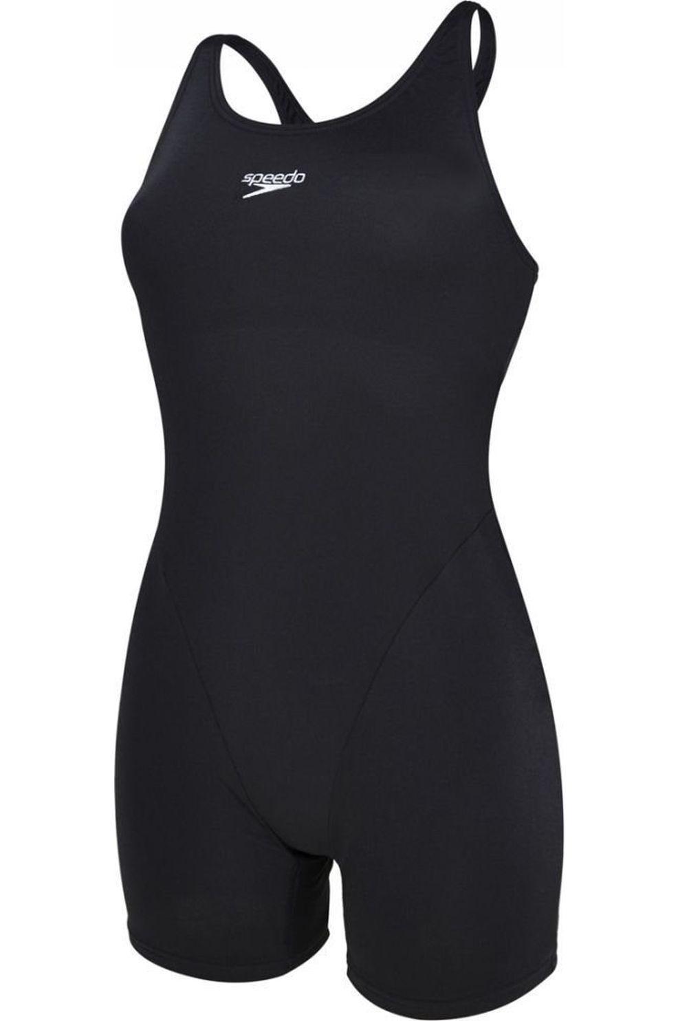 Speedo Badpak Endurance Ess Legsuit voor dames - Zwart - Maten: 36, 38, 40, 42, 44