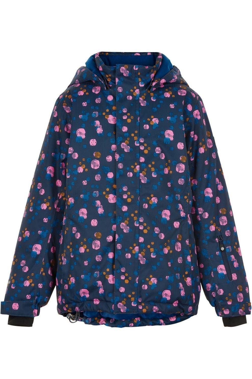 Color Kids Jas Ski Aop, Af 10.000 voor meisjes - Blauw/Roze - Maten: 92, 98, 104, 116, 128