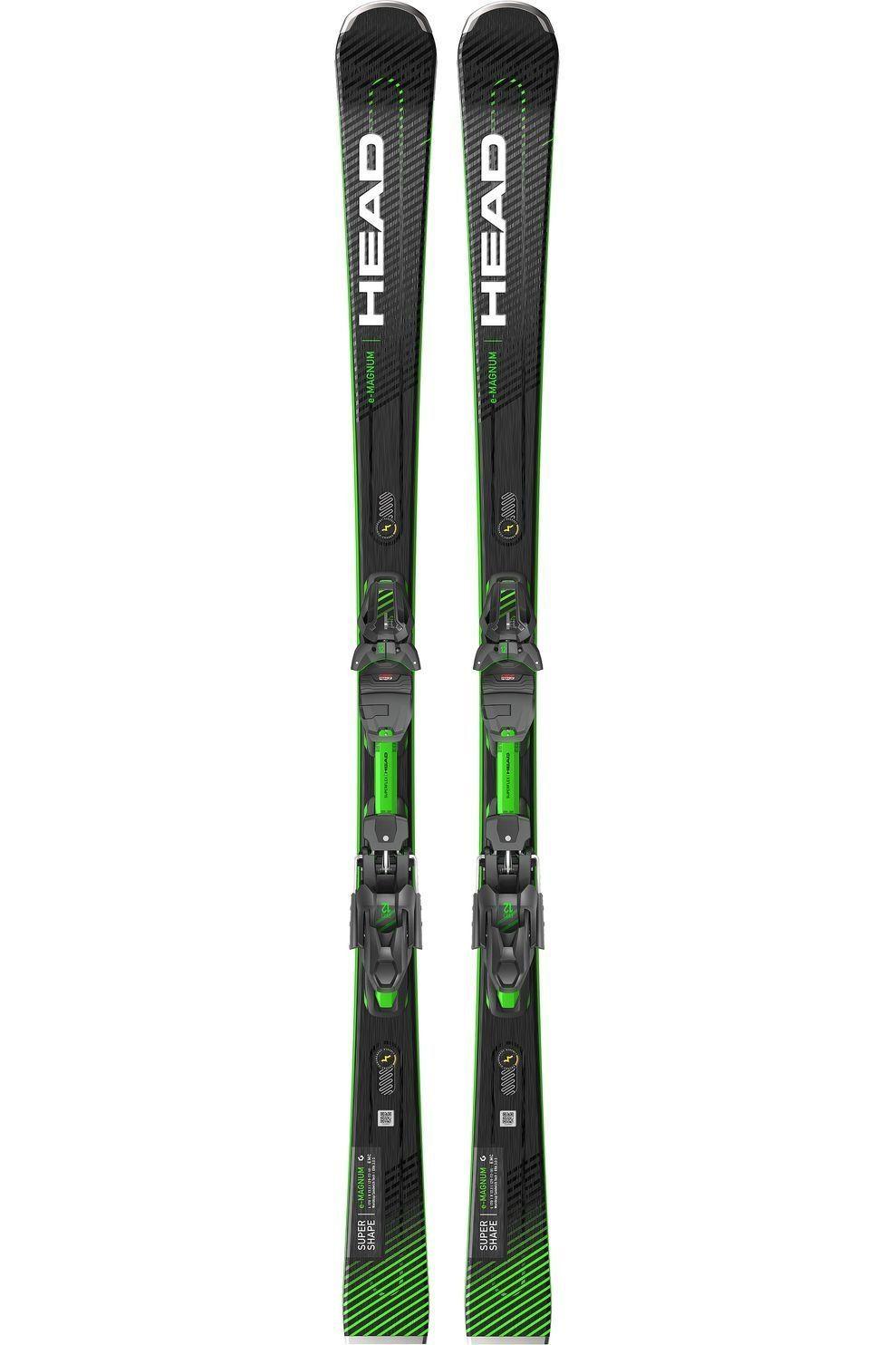 Head Ski Supershape E-Magnum + Prd12 Gw - Zwart/Geel - Maten: 163, 170, 177
