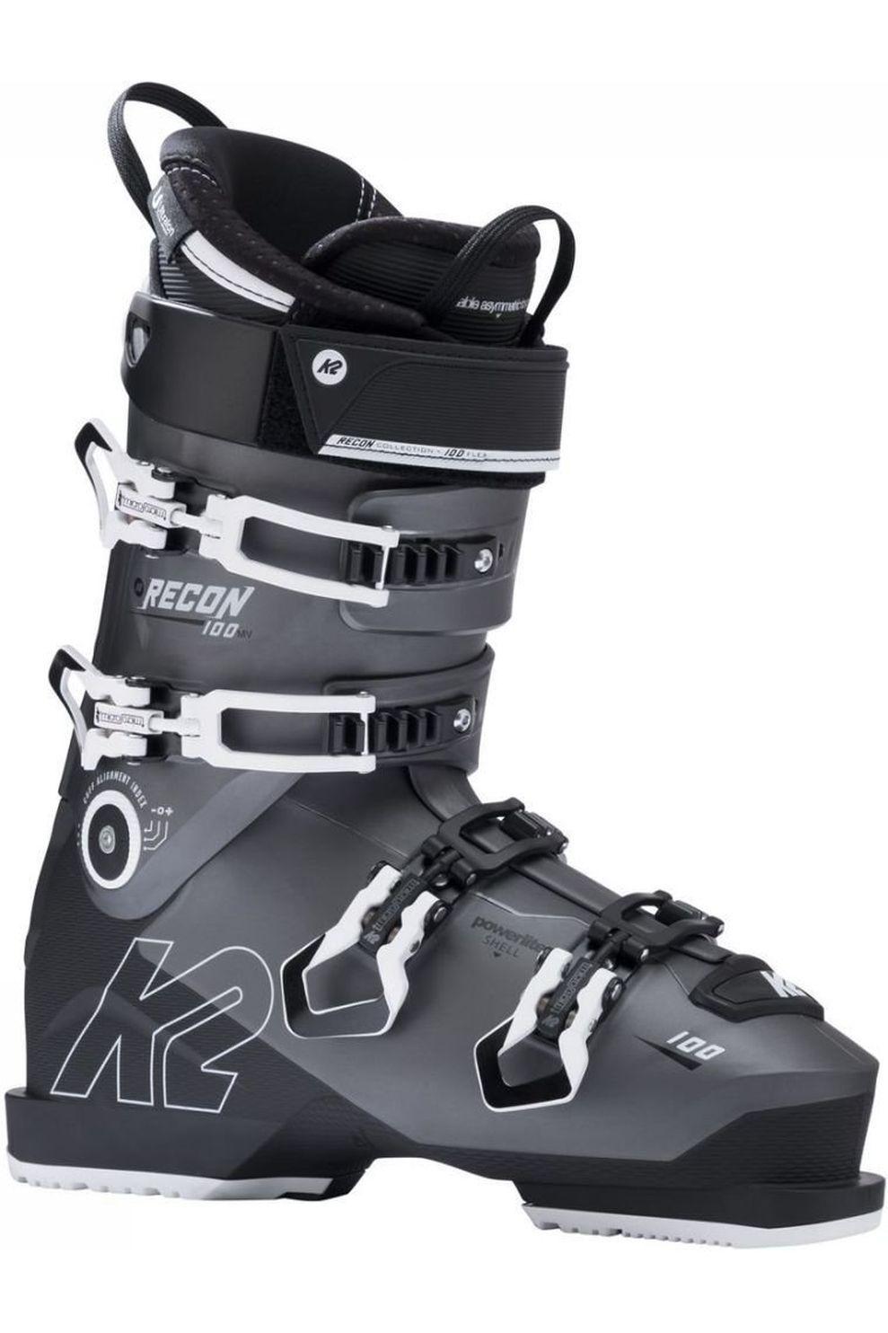 K2 Skischoen Recon 100 Mv voor heren - Zwart/Wit - Maten: 26.5, 27.5, 28.5, 29.5