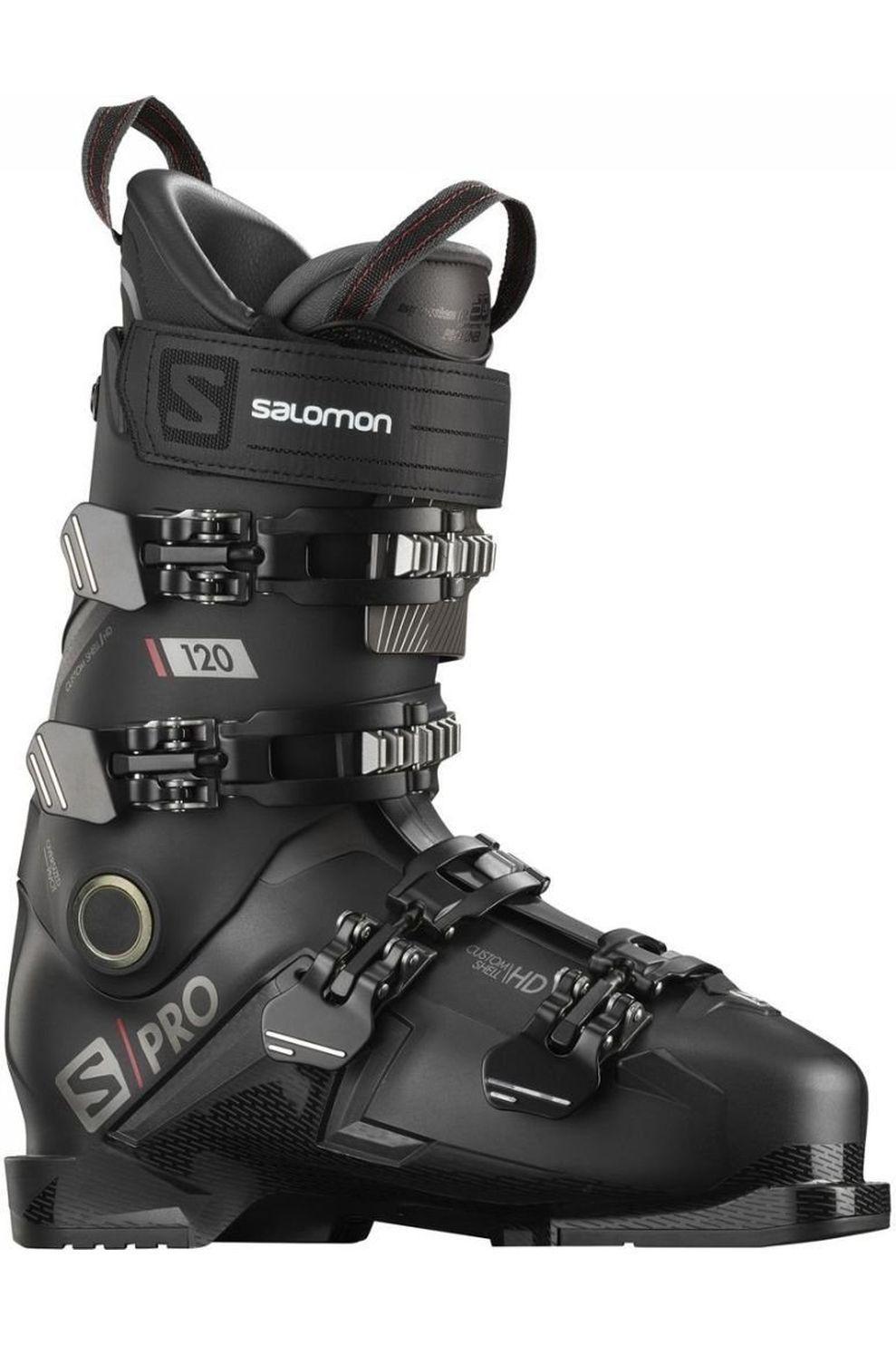 Salomon Skischoen S/Pro 120 voor heren - Zwart/Grijs - Maten: 26.5, 27.5, 28.5, 29.5