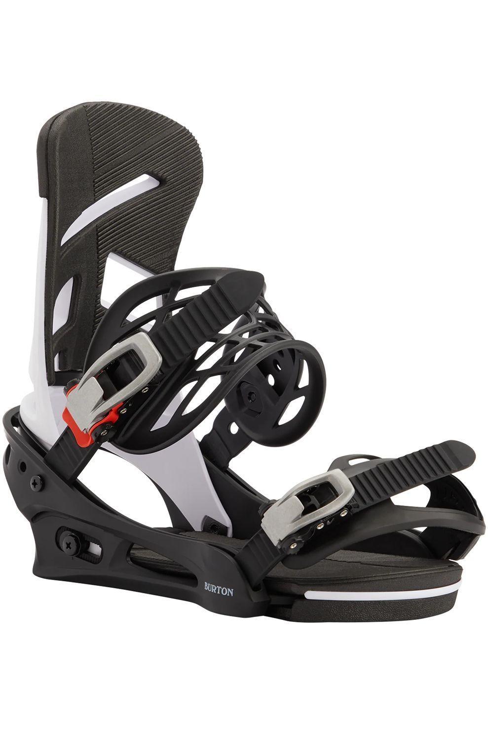 Burton Snowboardbinding Mission Reflex - Zwart/Wit - Maten: M, L