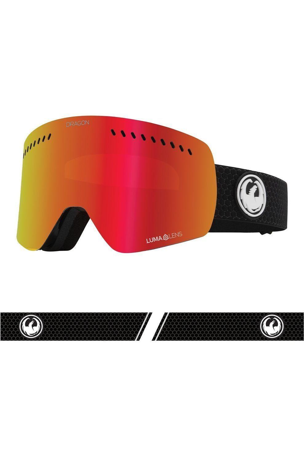Dragon Skibril Nfx'S voor heren Zwart-Rood