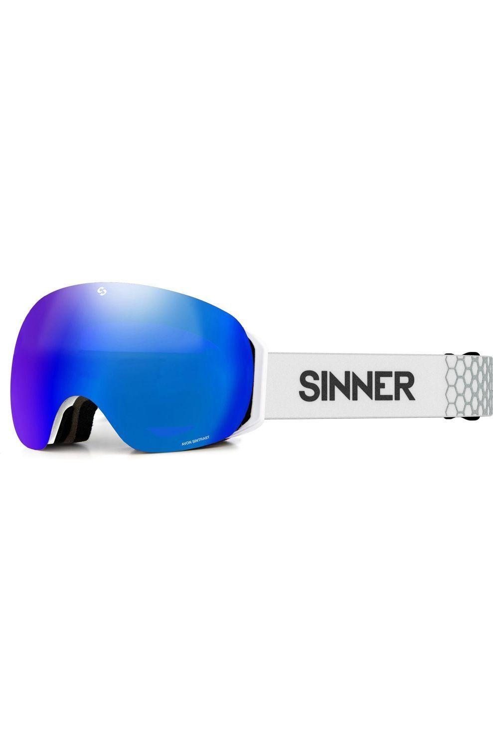 SINNER Skibril Avon voor heren - Grijs/Blauw