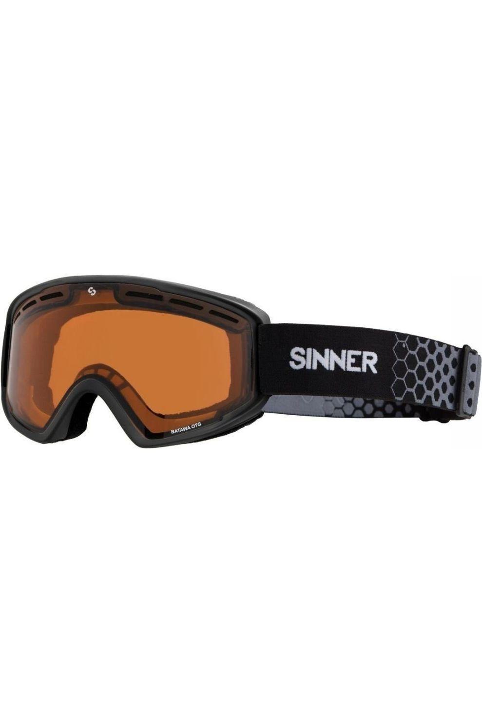SINNER Skibril Batawa Otg voor heren - Zwart/Oranje