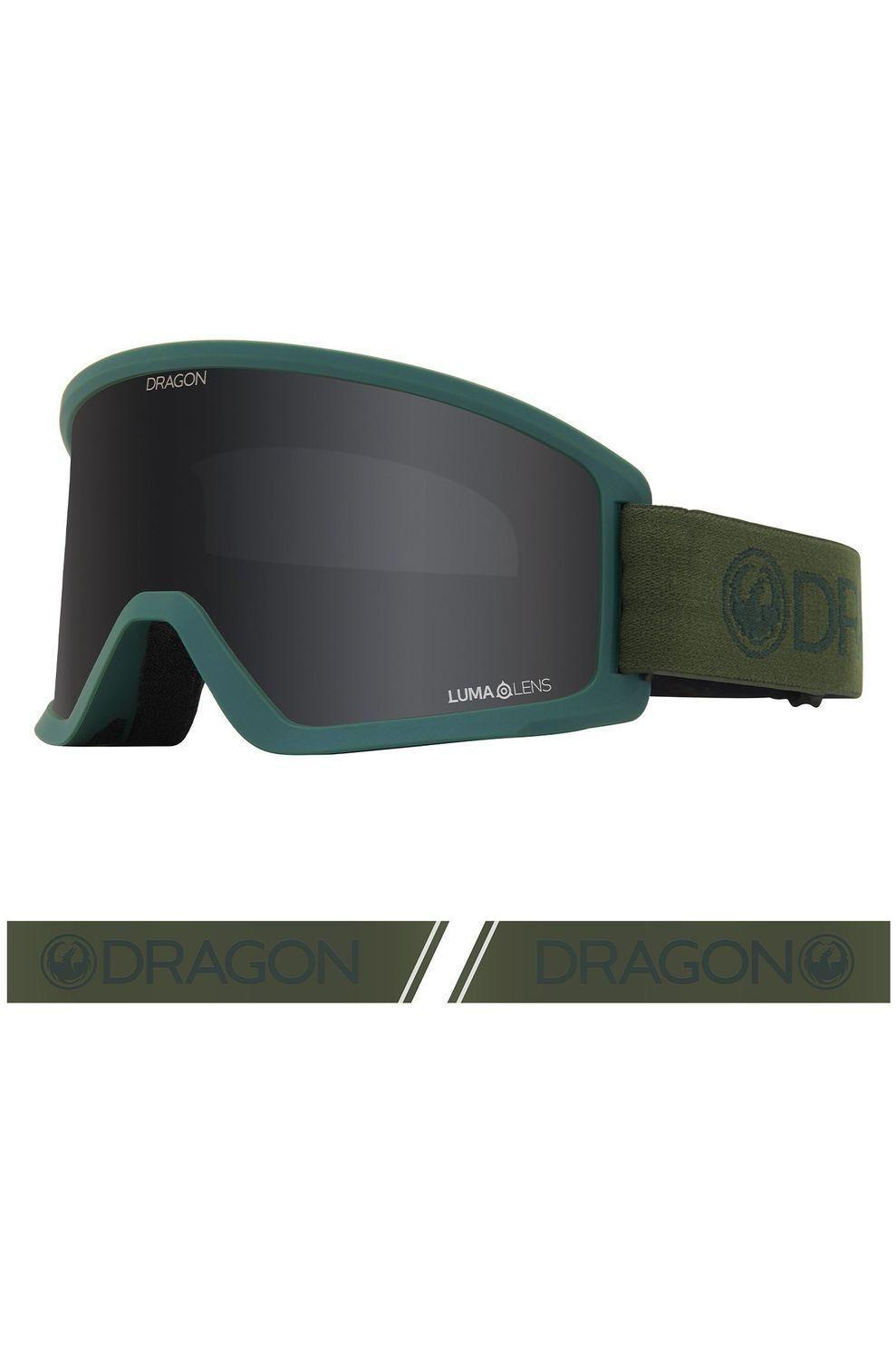 Dragon Skibril Dx3 voor heren Groen-Grijs