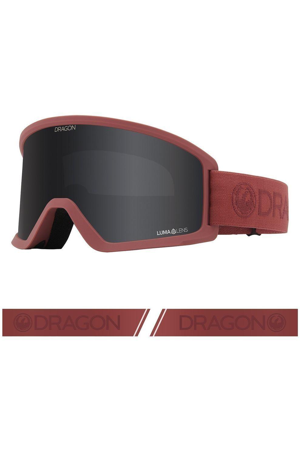 Dragon Skibril Dx3 voor heren Rood-Grijs