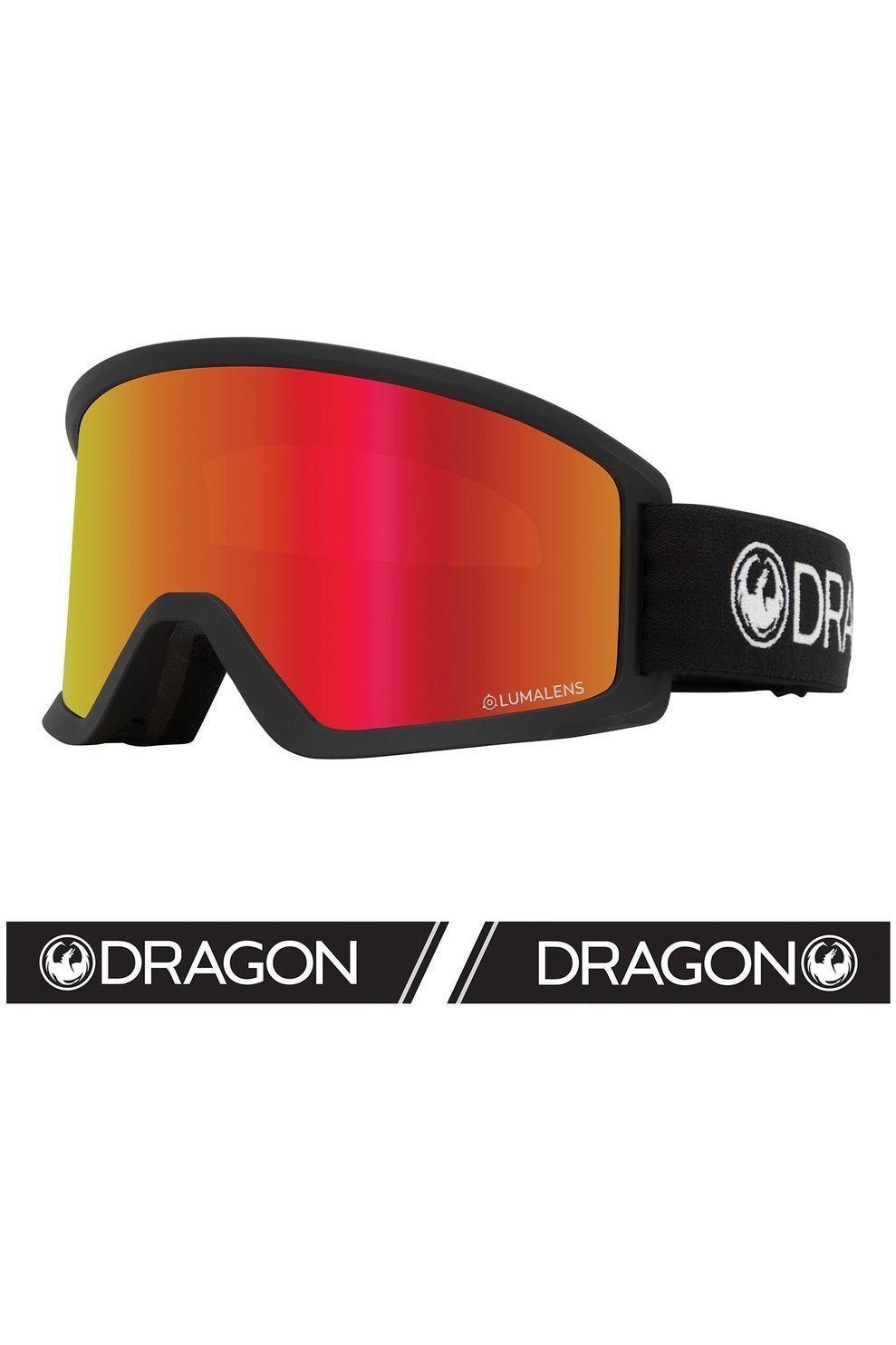 Dragon Skibril Dx3 voor heren Zwart-Rood