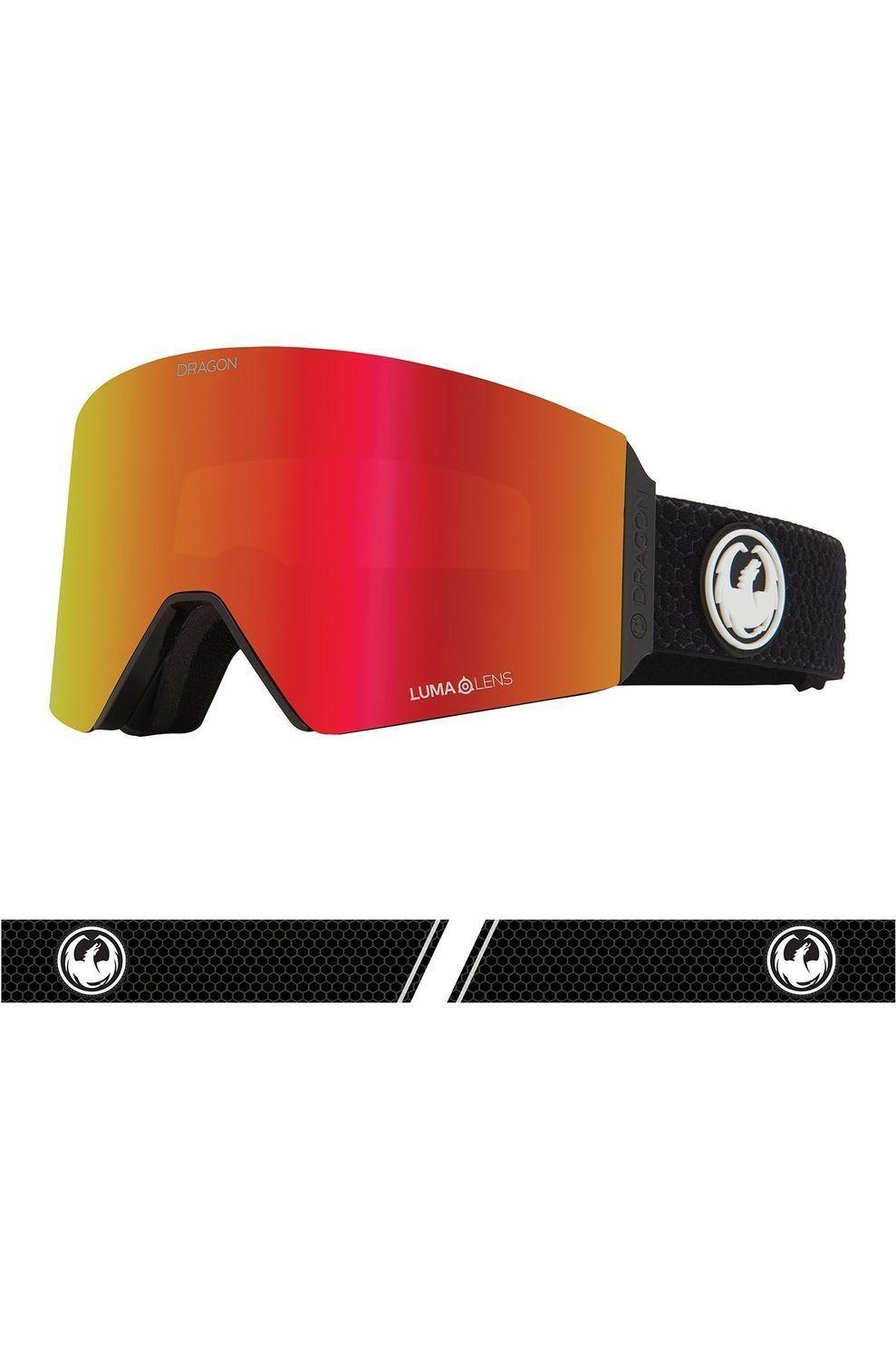 Dragon Skibril Rvx Otg voor heren Zwart-Rood