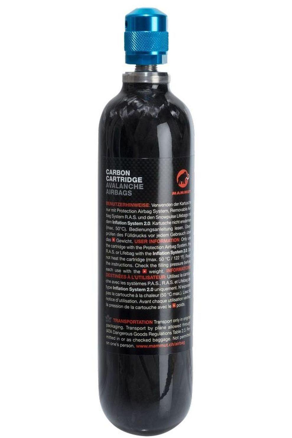Mammut Snow Safety Carbon Cartiridge 300 Bar Non-Refillable - Zwart
