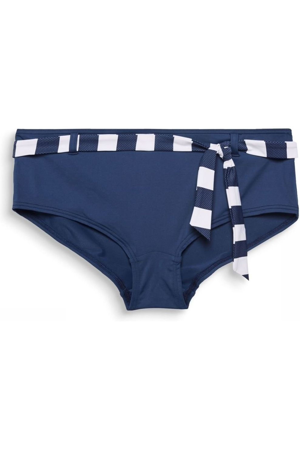 Esprit Slip North Brief Hipster With Acc Belt voor dames - Blauw/Wit - Maten: 40, 42