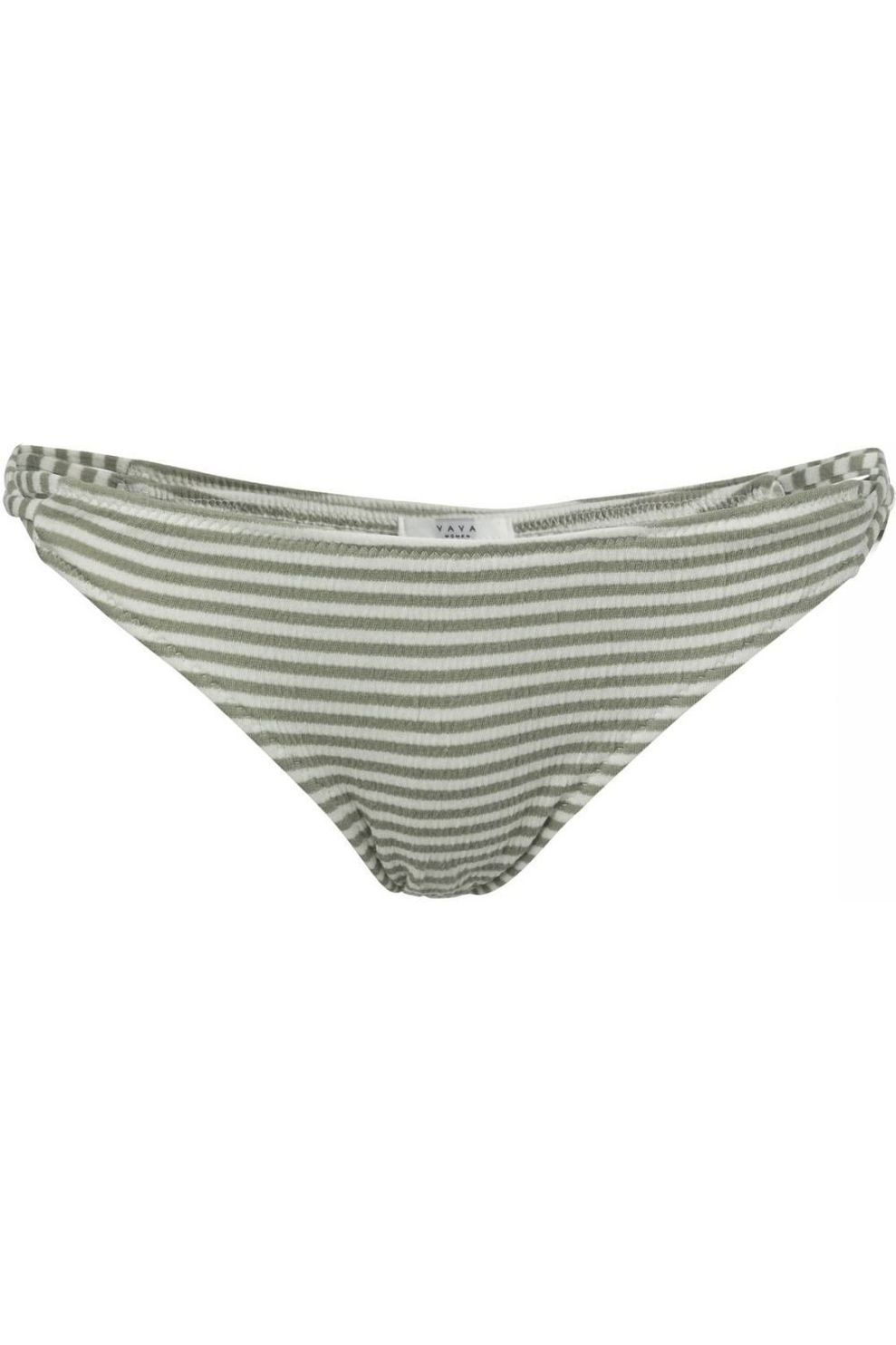 YAYA Slip Strappy Striped voor dames - Wit/MiddenGroen - Maten: XS, S, L, XL