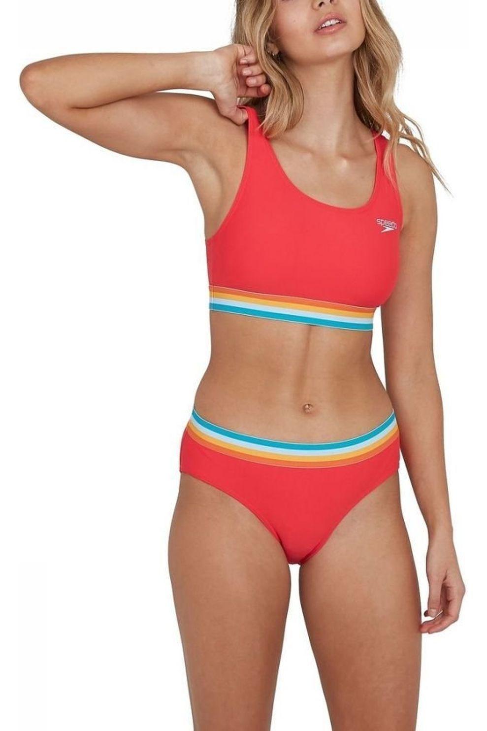 Speedo Bikini Solid Ub voor dames - Rood/Oranje - Maat: 42