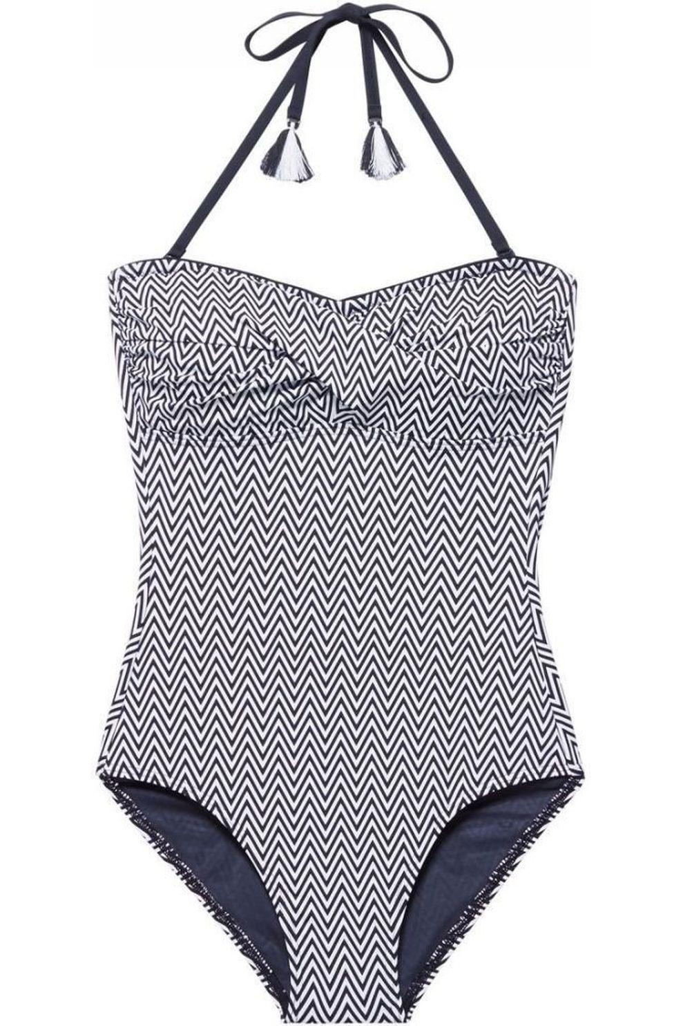 Esprit Badpak Westcoast Bandeau Swimsuit Shapewear voor dames Zwart Maten: 36, 38