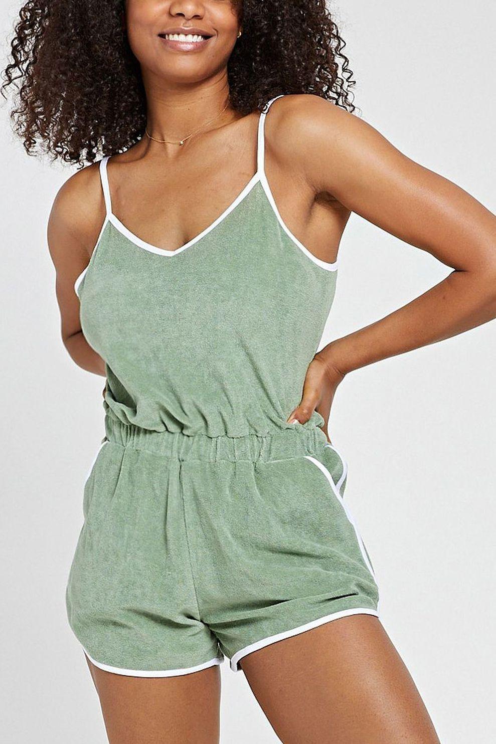 Shiwi Jumpsuit Torino voor dames - Groen - Maten: S, M, L, XL