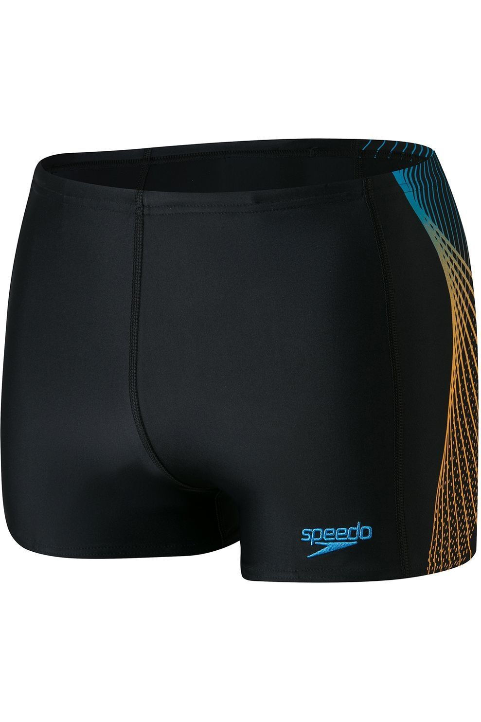 Speedo Slip E10 Placement Panel Aquashort voor heren - Blauw/Oranje - Maten: 32, 34, 36, 38