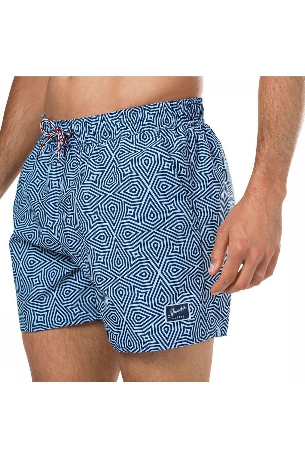 Speedo Zwemshort Vintage Printed 14Inch voor heren - Blauw - Maat: S