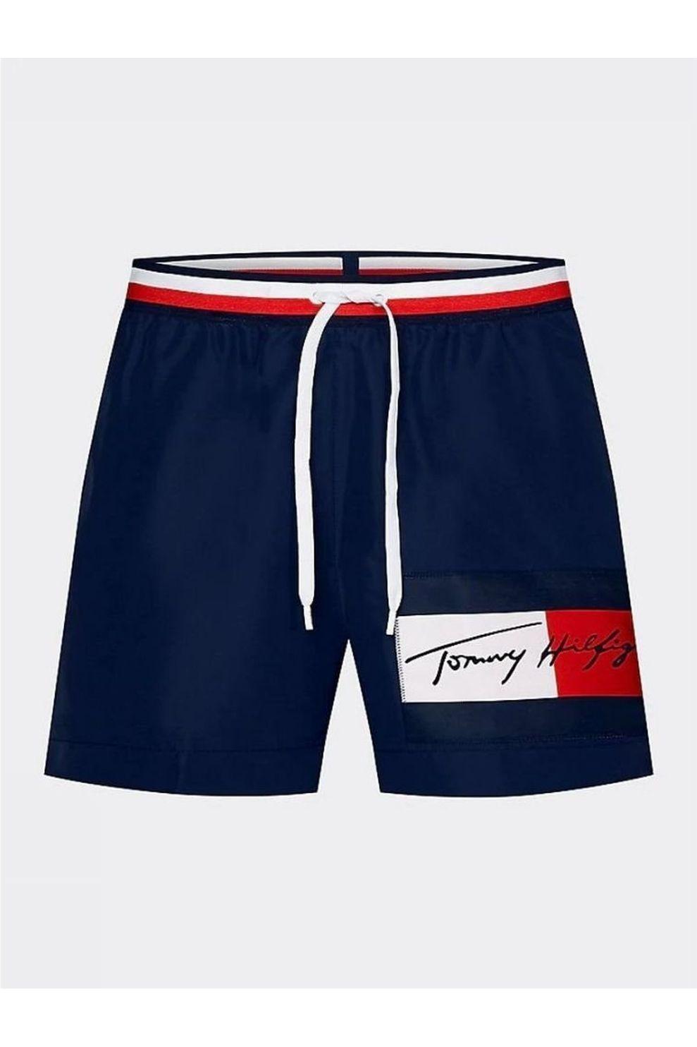 Tommy Hilfiger Zwemshort Medium Drawstring voor heren - Blauw - Maten: S, M, L, XL, XXL