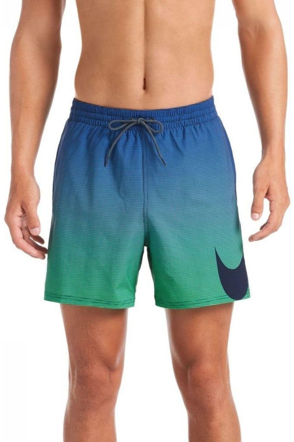 Nike Zwemshort 5Volley Short voor heren - Blauw/Groen - Maten: S, M, L, XL