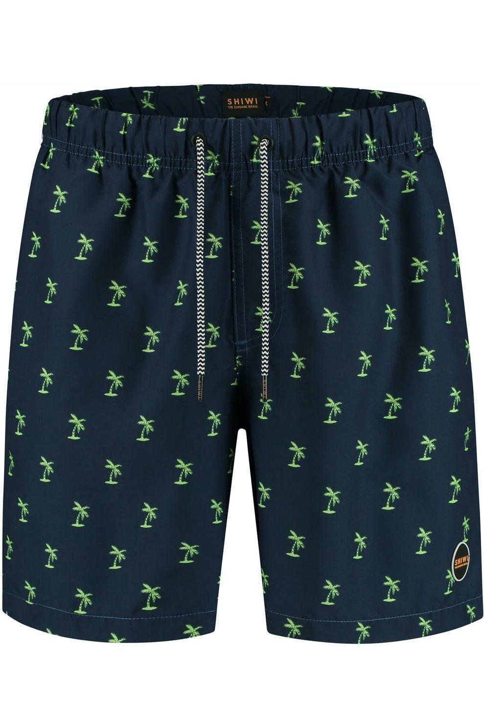 Shiwi Zwemshort Shiwi Palmtree voor heren - Blauw - Maten: S, M, L, XL, XXL