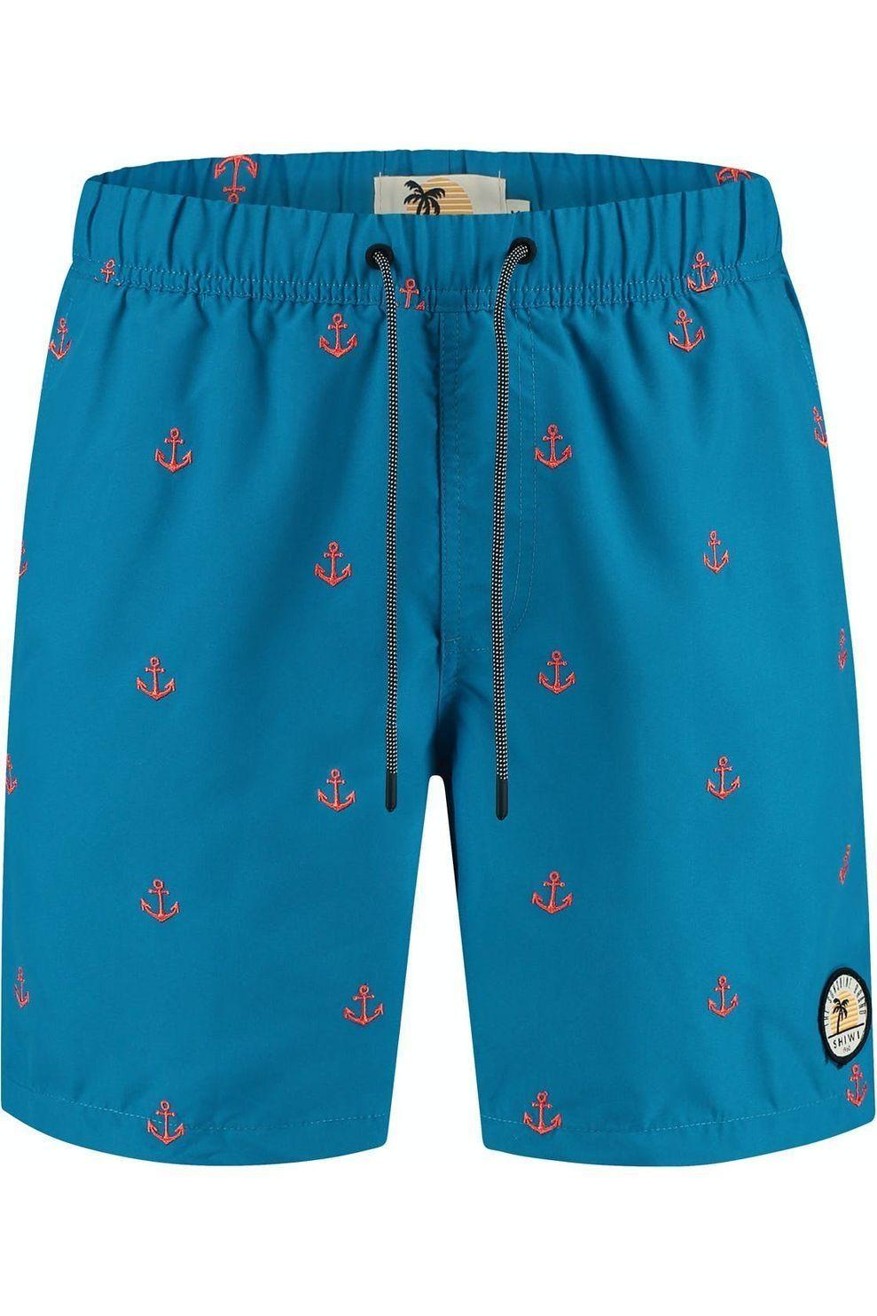 Shiwi Zwemshort Relax Anchor Embr voor heren - Blauw - Maat: S