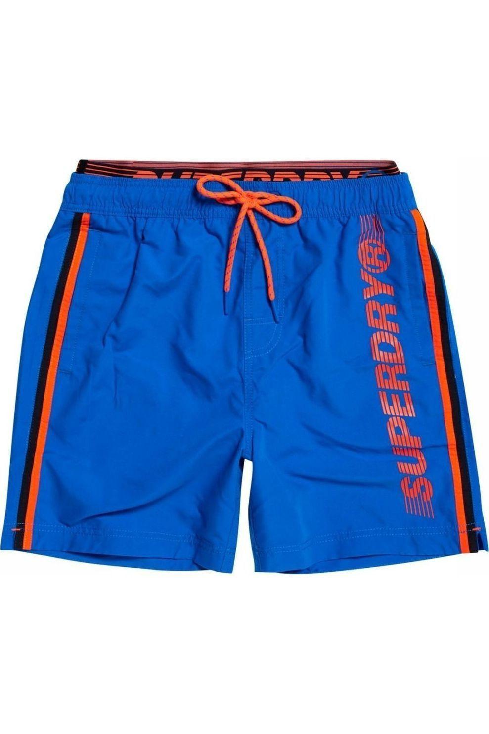 Superdry Zwemshort State Volley voor heren - Blauw - Maten: S, M, L, XL