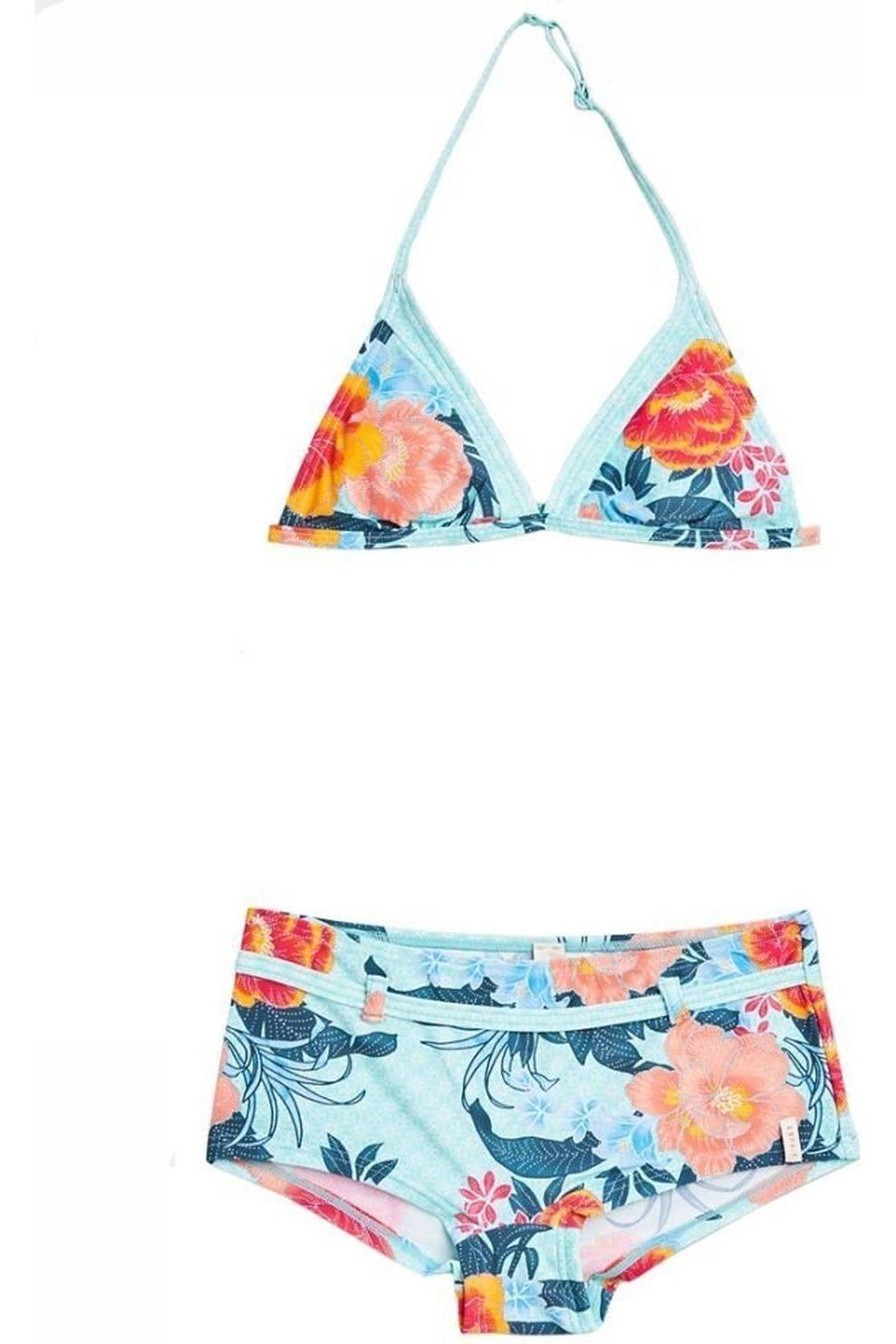Esprit Bikini Peony Neckholder2+Short voor meisjes - Blauw - Maten: 128, 164