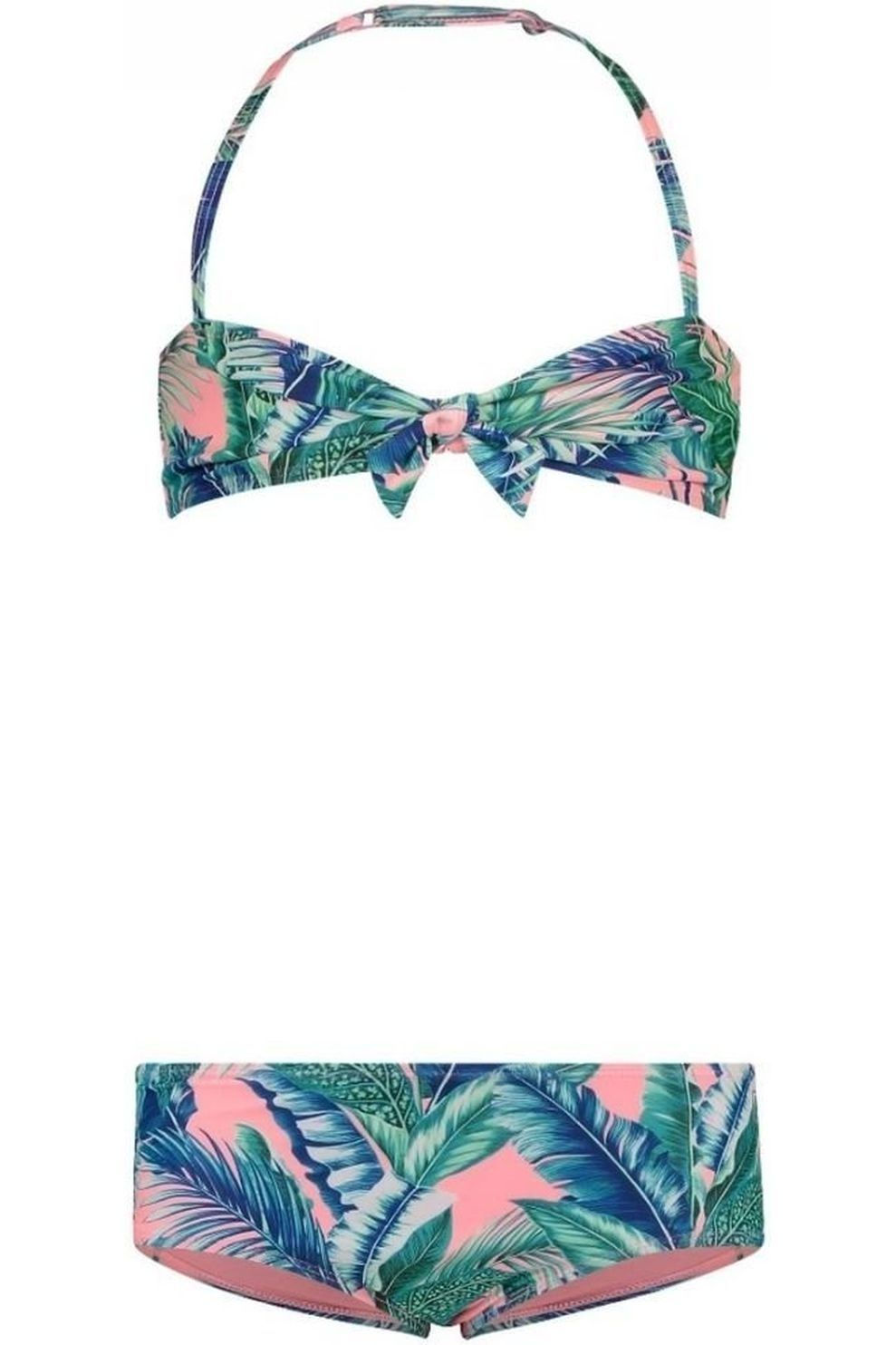 Shiwi Bikini Bandeau Bright Jungle voor meisjes - Oranje - Maat: 176