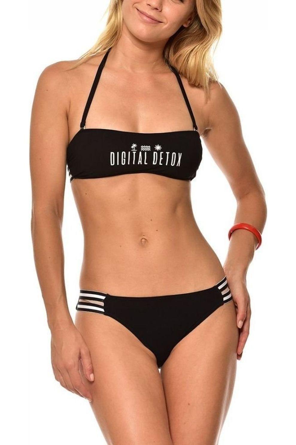 Banana Moon Bikini Beachbabe Chill + Bosio voor meisjes - Zwart - Maten: 164, 188