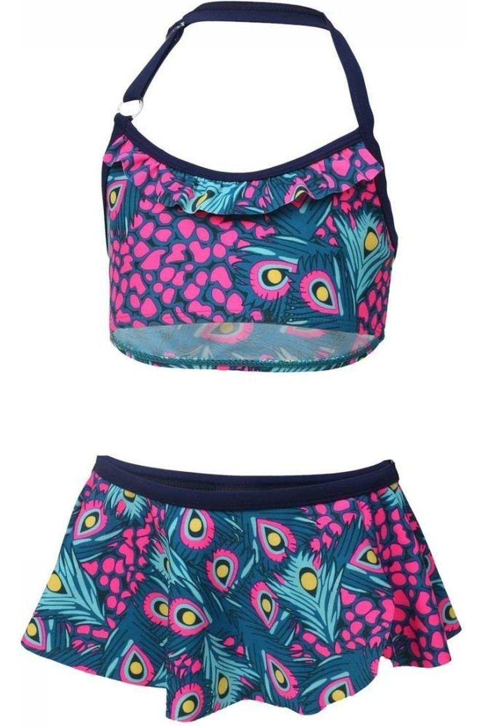 Color Kids Bikini Tracy voor meisjes - Blauw/Roze - Maat: 104