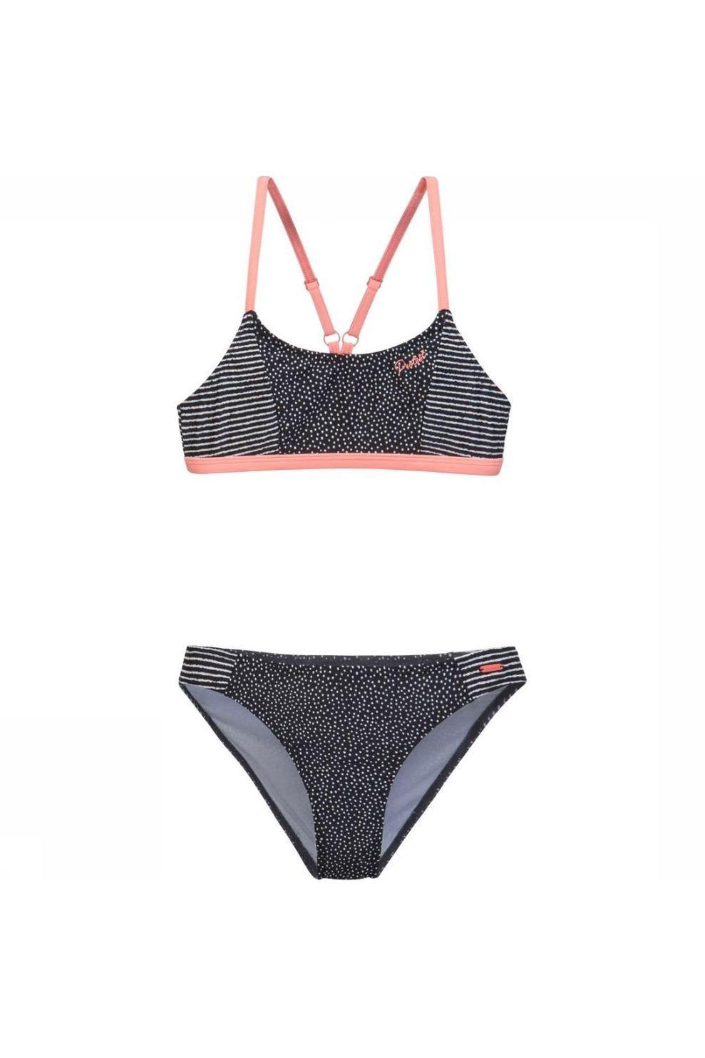 Protest Bikini Imse Jr voor meisjes - Zwart/ Gemengd - Maat: 164