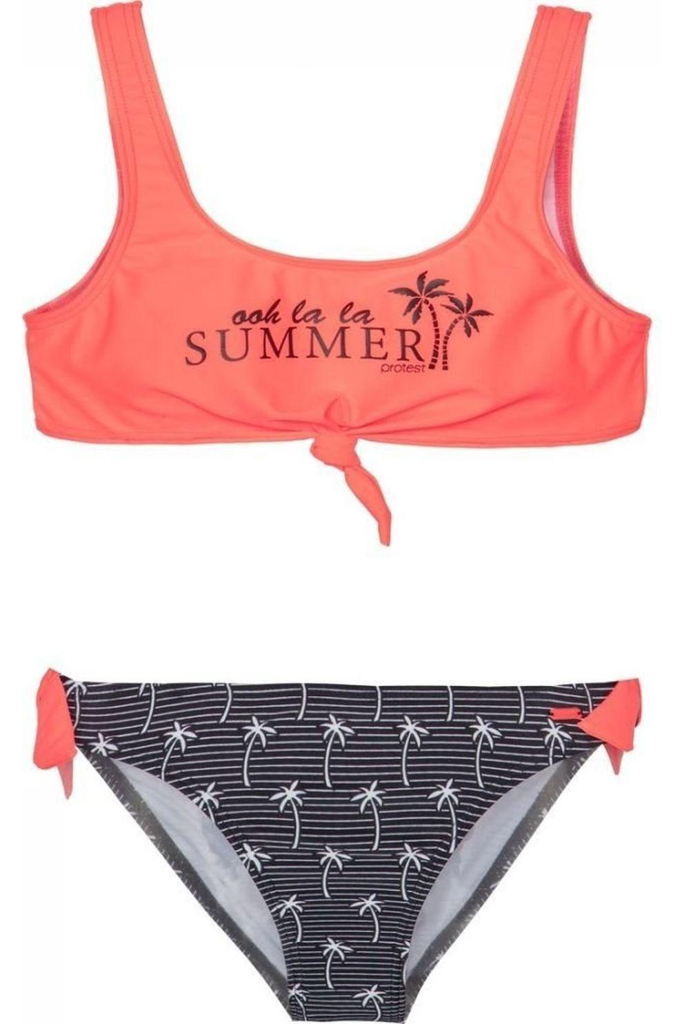 Protest Bikini Nita Jr voor meisjes - Roze/Zwart - Maat: 176