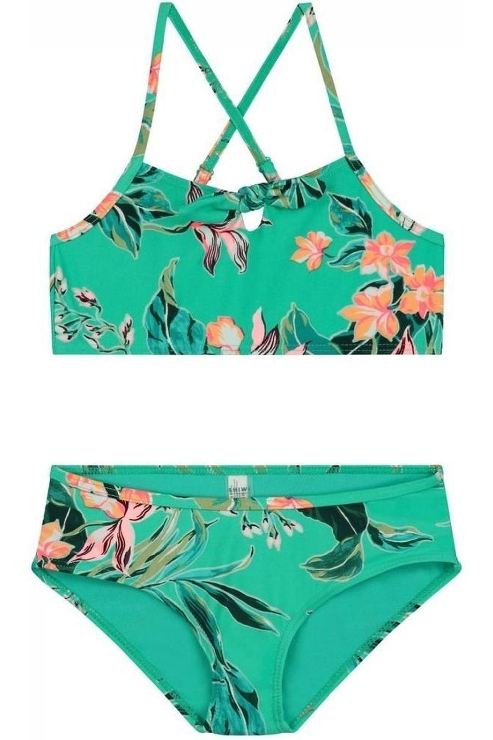 Shiwi Bikini Waikiki Scoop With Bow & Hipster voor meisjes - Groen - Maten: 152, 176