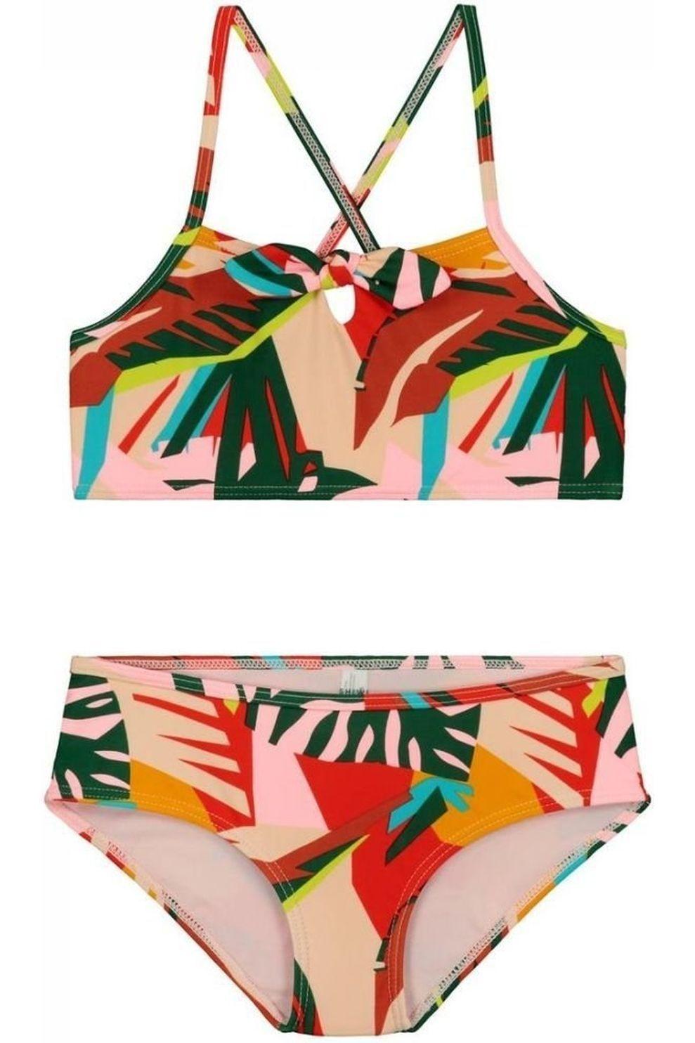 Shiwi Bikini Frangipani Scoop voor meisjes - Roze/ Gemengd - Maat: 176
