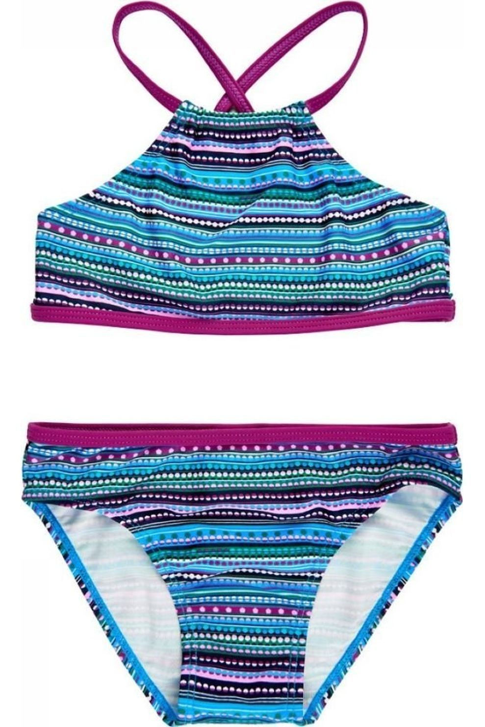 Color Kids Bikini Kate Aop voor meisjes - Blauw/ Gemengd - Maten: 104, 116, 128, 140