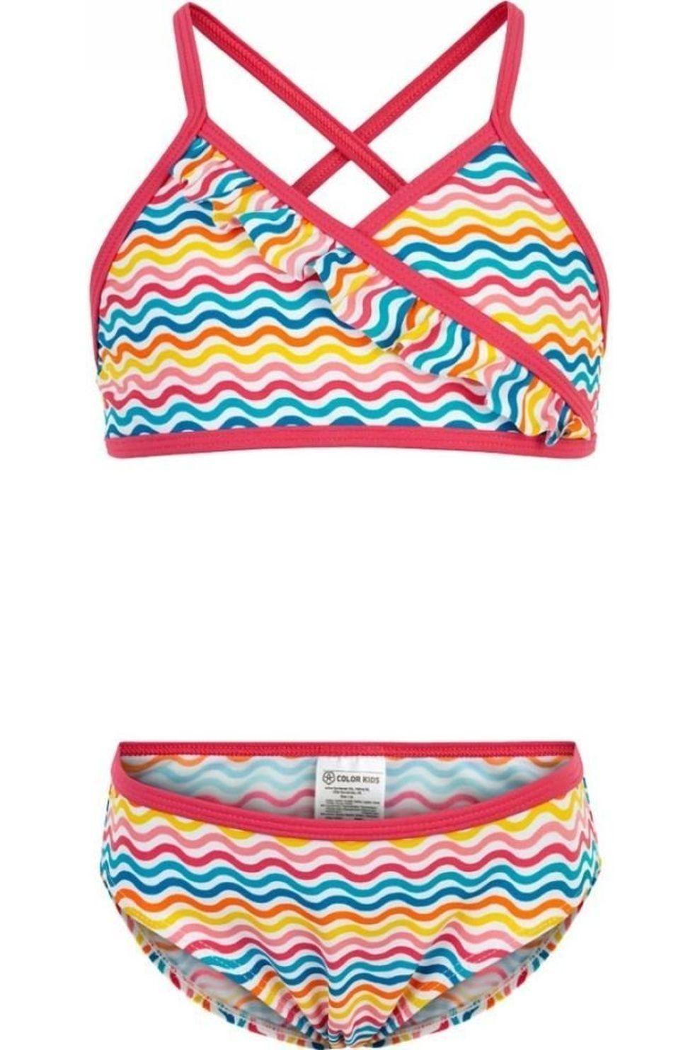 Color Kids Bikini Nilje Aop voor meisjes - Wit - Maten: 104, 116, 128, 140
