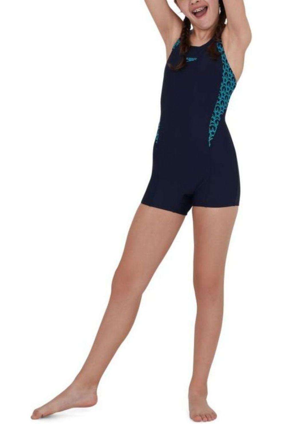 Speedo Badpak Boomstar Splice Legsuit voor meisjes - Blauw - Maten: 128, 140, 152, 164, 176