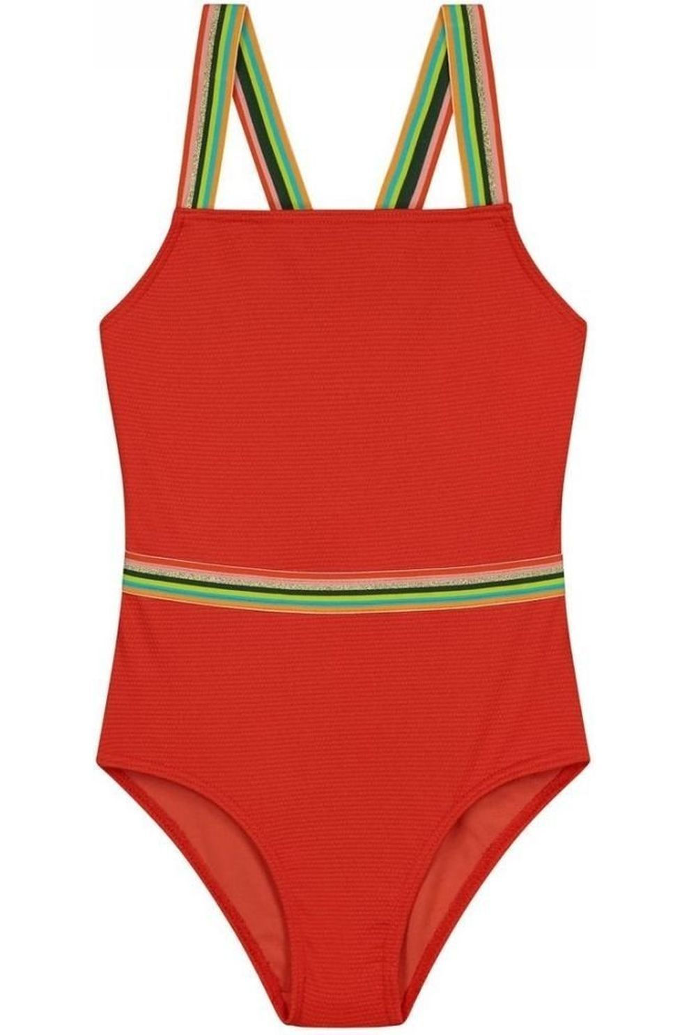 Shiwi Badpak Rainbow voor meisjes - Oranje - Maat: 176