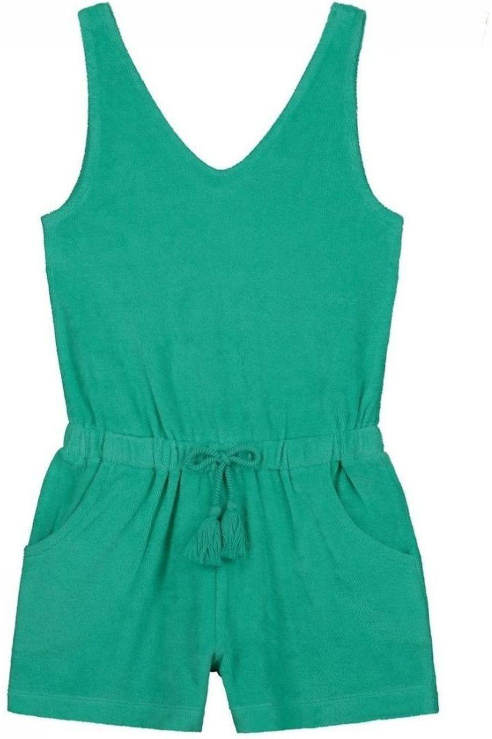 Shiwi Jumpsuit Terry voor meisjes - Groen - Maten: 128, 140, 152, 164