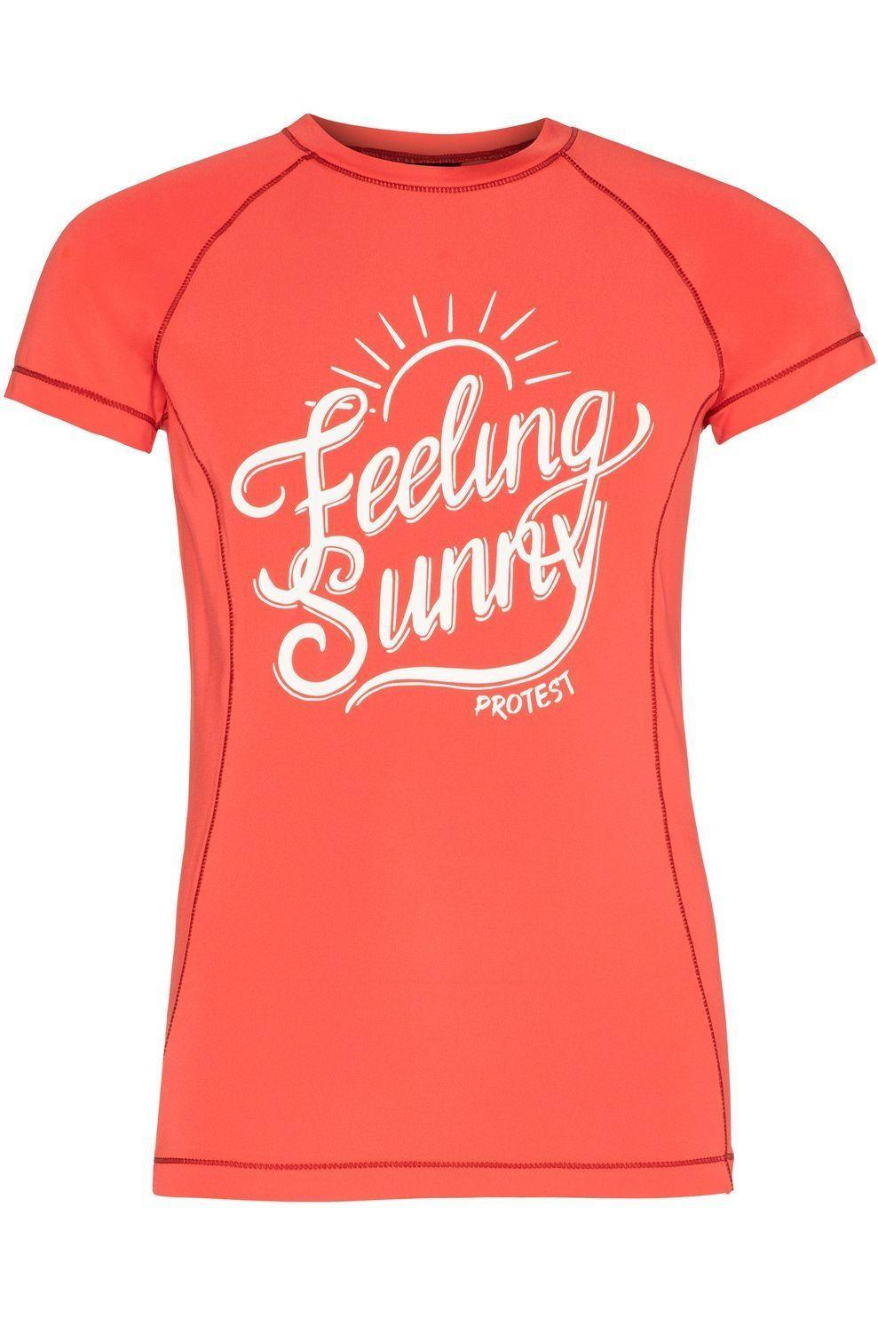 Protest Lycra Benta Jr Rashguard Short Sleeve voor meisjes - Oranje - Maten: 140, 152, 164, 176
