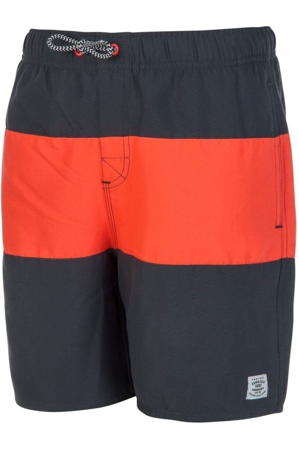 Protest Zwemshort Beagle 18 Jr voor jongens - Grijs/Oranje - Maten: 140, 164